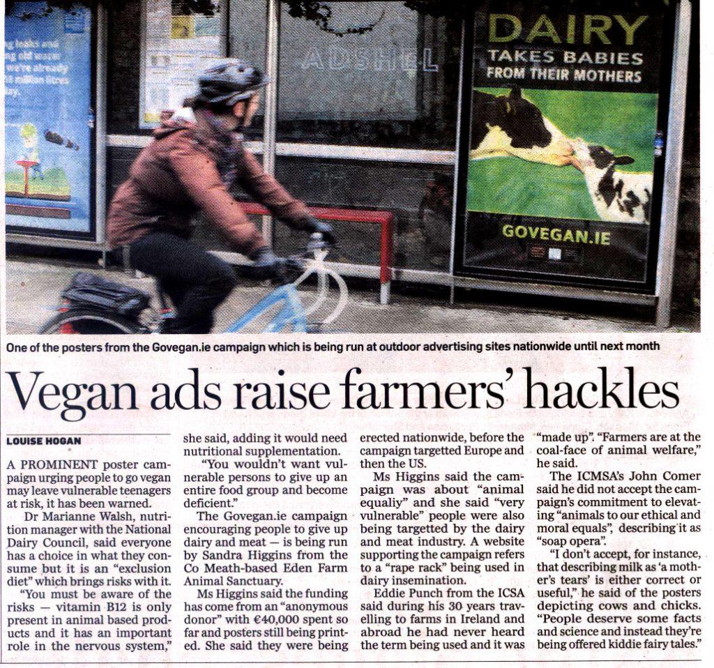 Vegan Ads Raise Farmers' Hackles