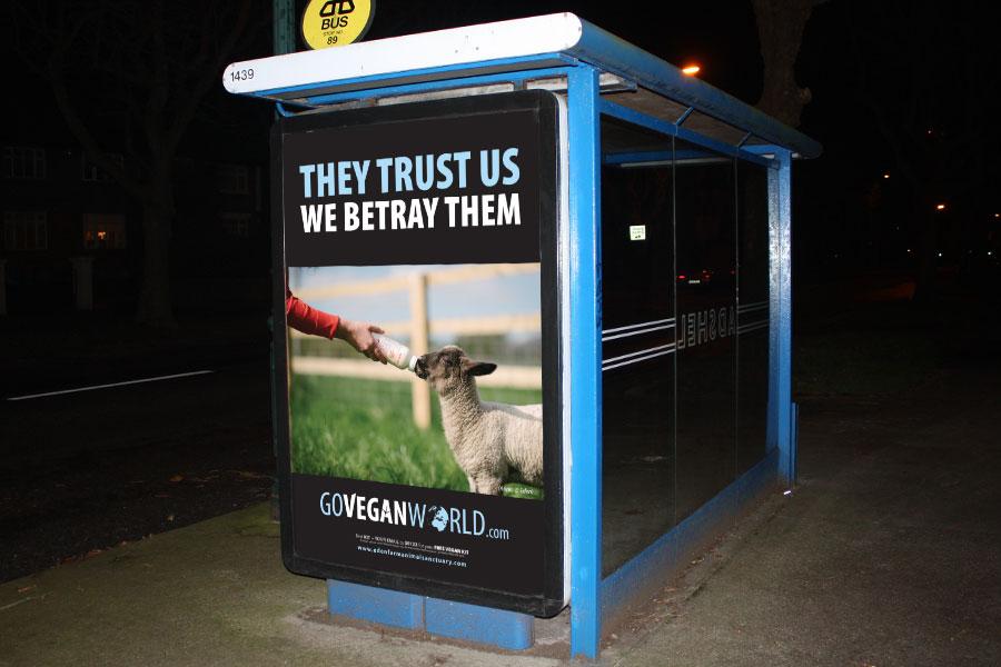 go vegan world campaign poster
