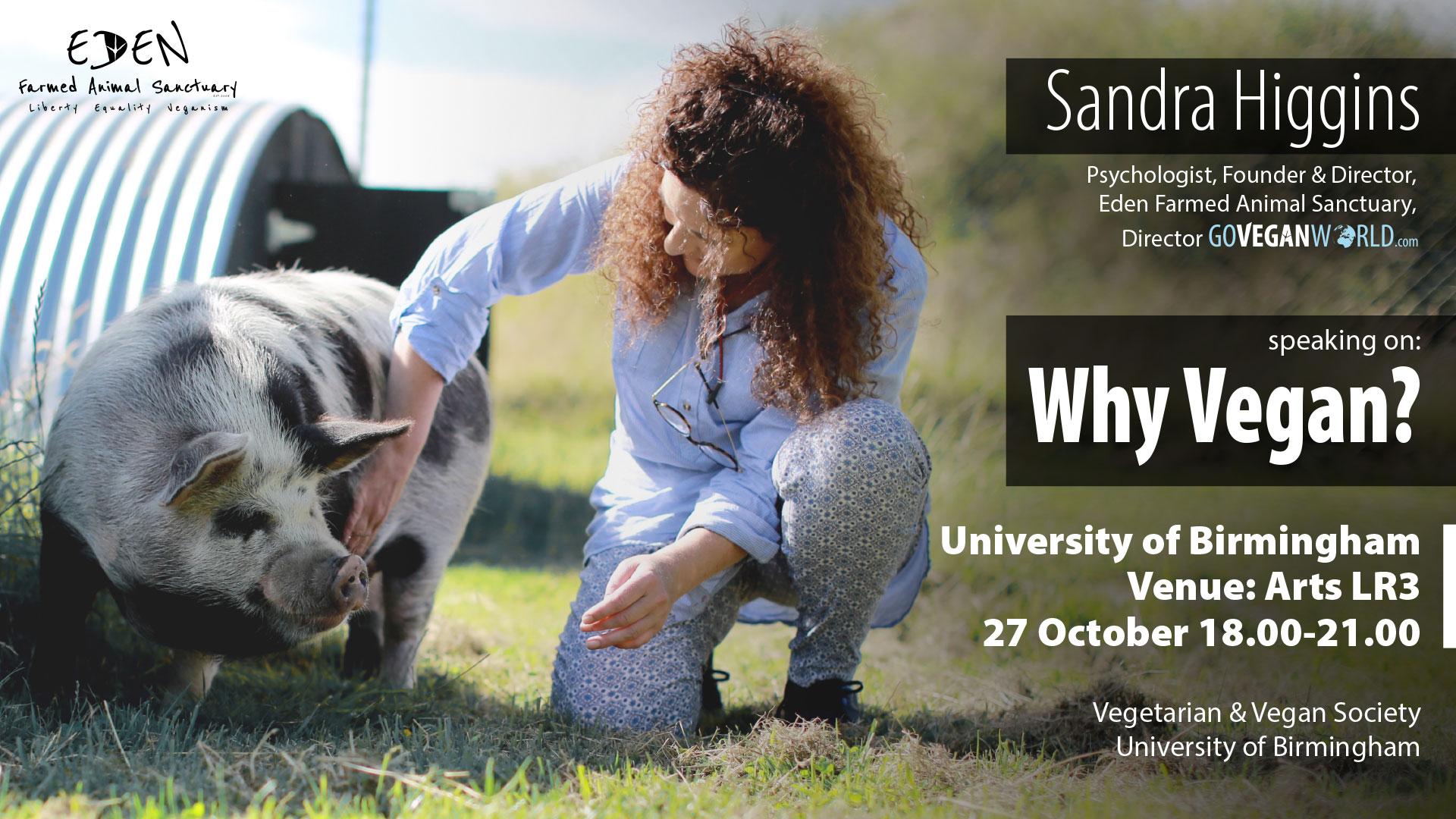 University of Birmingham - Why Vegan - Sandra higgins