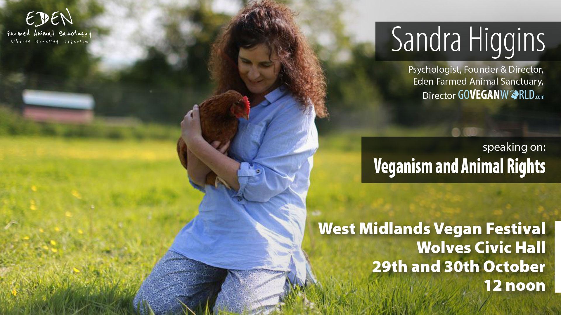 West Midlands Vegan Festival - Sandra Higgins talk on Veganism and animal rights