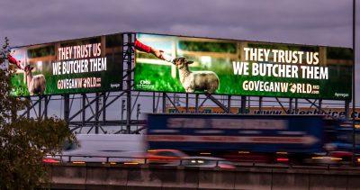 Go Vegan World Billboard Campaign Birmingham UK