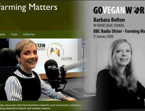 Should People Go Vegan? BBC Radio Ulster – Farming Matters 7 January 2020